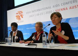 Joanne Carter at AIDS 2010