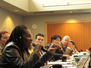 Carol Nawina Nyirenda of the Community Initiative for TB, HIV, and Malaria in Zambia